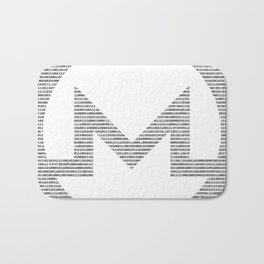 Binary Monero Bath Mat