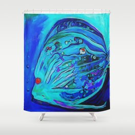 The Blue Fish Shower Curtain