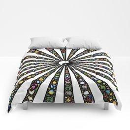 yin-yang rays radiate Comforters