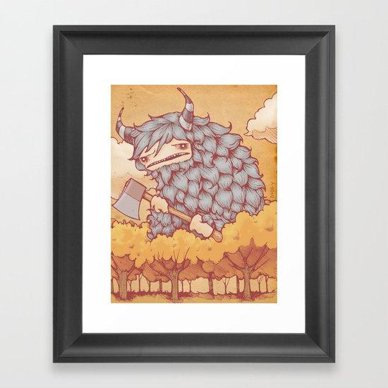 巨大的柴夫 (Great Firewood Husband) Framed Art Print