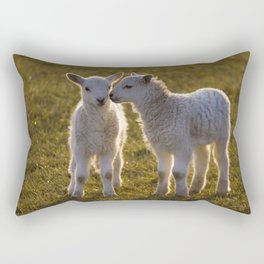 Cute little lambs Rectangular Pillow