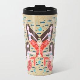 Mermaids on Kraft Travel Mug