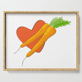 Carrot Heart Serving Tray