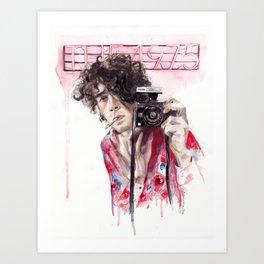 Portrait with Cigarette Art Print