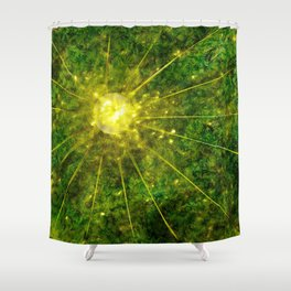 Contrast of Manufactured Energy Shower Curtain
