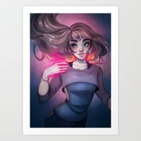 cyarin Art Prints featuring Bonfire Spell by Cyarin