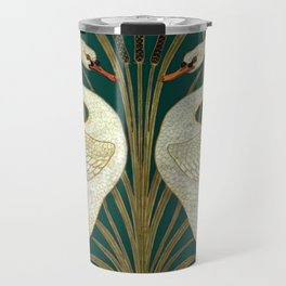 Walter Crane's Swan, Rush, Iris Travel Mug