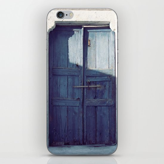 Santorini Door I iPhone & iPod Skin