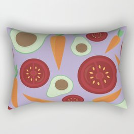 Veggie Pattern Rectangular Pillow