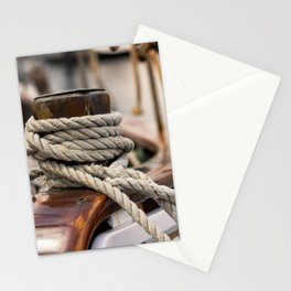 linen rope from the old ship Stationery Cards