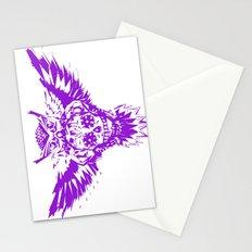 SUGAR SKULL OWL PURPLE  Stationery Cards