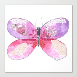 Violet Butterfly Canvas Print