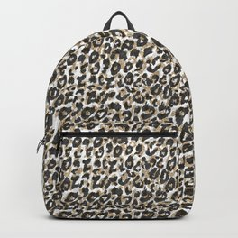Elegant gold leopard animal print pattern Backpack
