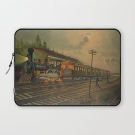 Night Scene on the NY Central Railroad (1884) Laptop Sleeve