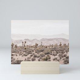 Sierra Nevada Mojave // Desert Landscape Blush Cactus Mountain Range Las Vegas Photography Mini Art Print