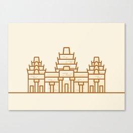 Cambodia - Angkor Wat Illustration Canvas Print