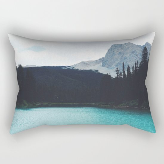 Moody Emerald Lake Rectangular Pillow