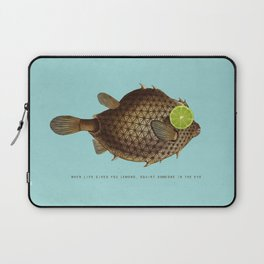 When Life Gives You Lemons, Squirt Someone In The Eye Laptop Sleeve