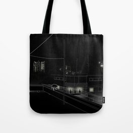 Dog on the roof Tote Bag