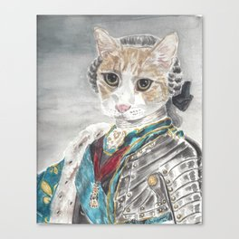 King Louis XVI Cat Canvas Print