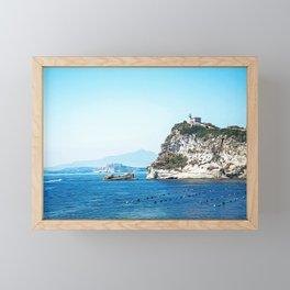 Gulf of Naples seacoast in summer Framed Mini Art Print