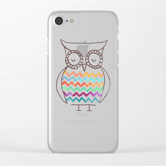 Chevron Owl Clear iPhone Case