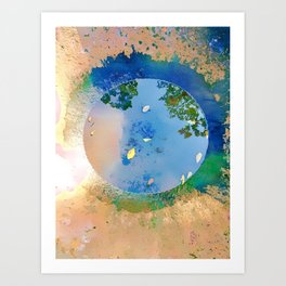 """The World in a Bowl """"Coppers"""" Art Print"""