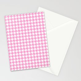 Rose Quartz Houndstooth Stationery Cards