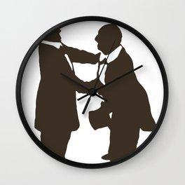 Bruckner shaking the Master's hand Wall Clock