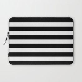 Black White Stripe Minimalist Laptop Sleeve