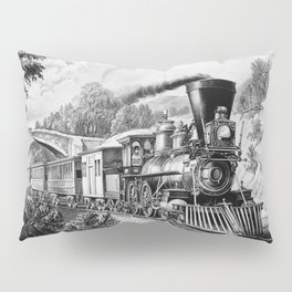 The Express Train: Currier & Ives 1870 Pillow Sham