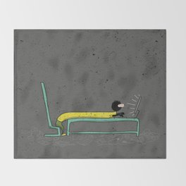 Pure Laziness by Thao Vu Throw Blanket