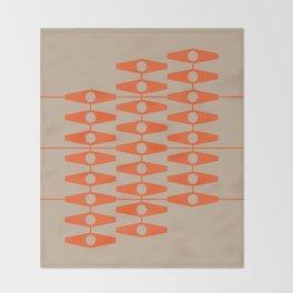 abstract eyes pattern orange tan Throw Blanket