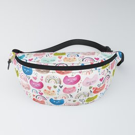 Happy cats and rainbows Fanny Pack