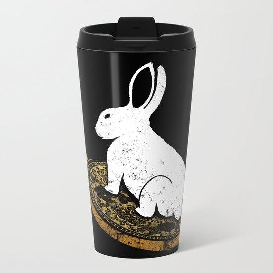 Follow The White Rabbit Metal Travel Mug