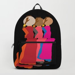 Three women carrying water 1 Backpack
