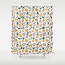 Donut Cat Shower Curtain