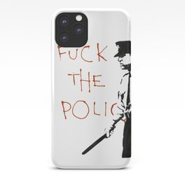 Banksy F*ck the Police Artwork Reproduction for Prints Posters Tshirts Men Women Kids iPhone Case