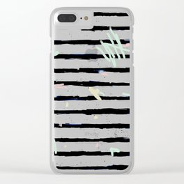 Whimsical Stripes Clear iPhone Case