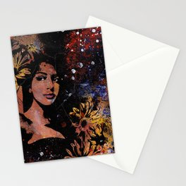 untitled #28914 (sunflowers bikini girl) Stationery Cards