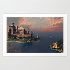 Beautiful Fantasy Town Art Print