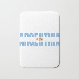 Argentinian Flag Vintage Argentina Country Gift Bath Mat