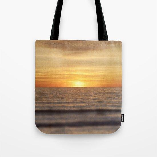 California Sunset Over Ocean Tote Bag
