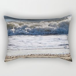 Cape May Beach New Jersey By Annie Zeno Rectangular Pillow