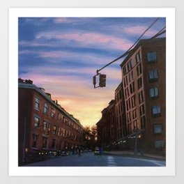 Chelsea Sunset, print of original oil painting Art Print