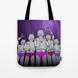 Revolt of the BOT-HUGGERS! Tote Bag