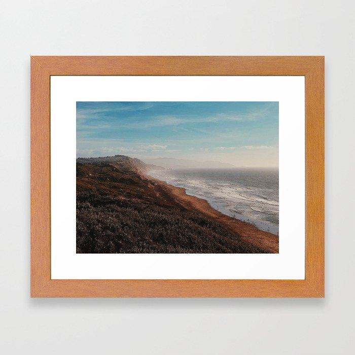 Fort Funston Park in San Francisco, California Framed Art Print
