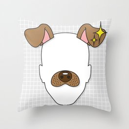 Snapchat Dog Filter Throw Pillow