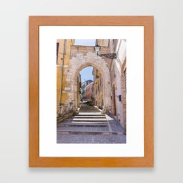 Porta Pescara, Old Arch Framed Art Print