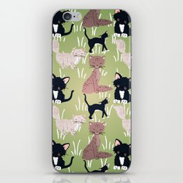 Cats Meadow iPhone Skin